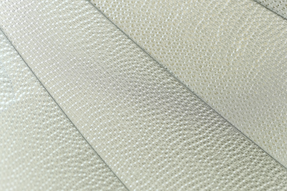 "SMDV MegaBox 110 interior ""embossed silver"" fabric option. A white interior fabric option is also available."