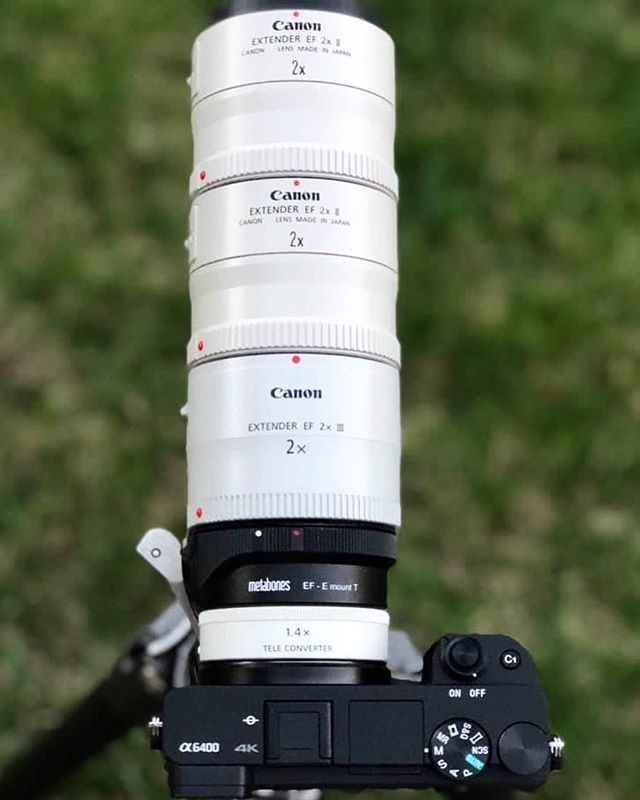 Our friend @alex_phan714 is a madman 😂 - potentially 10,080mm @ f/11 while retaining autofocus on the @sonyalpha a6400  _ #thebroketographers #broketographer #photographer #photoshoot #photography #model #modeling #fashion #portrait #strobist #sony #sonyalpha #teleconverters #metabones #a6400 #telephoto