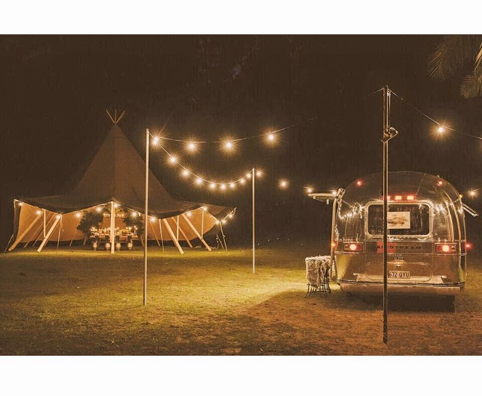 Tipi pictured above by Gold Coast Tipis