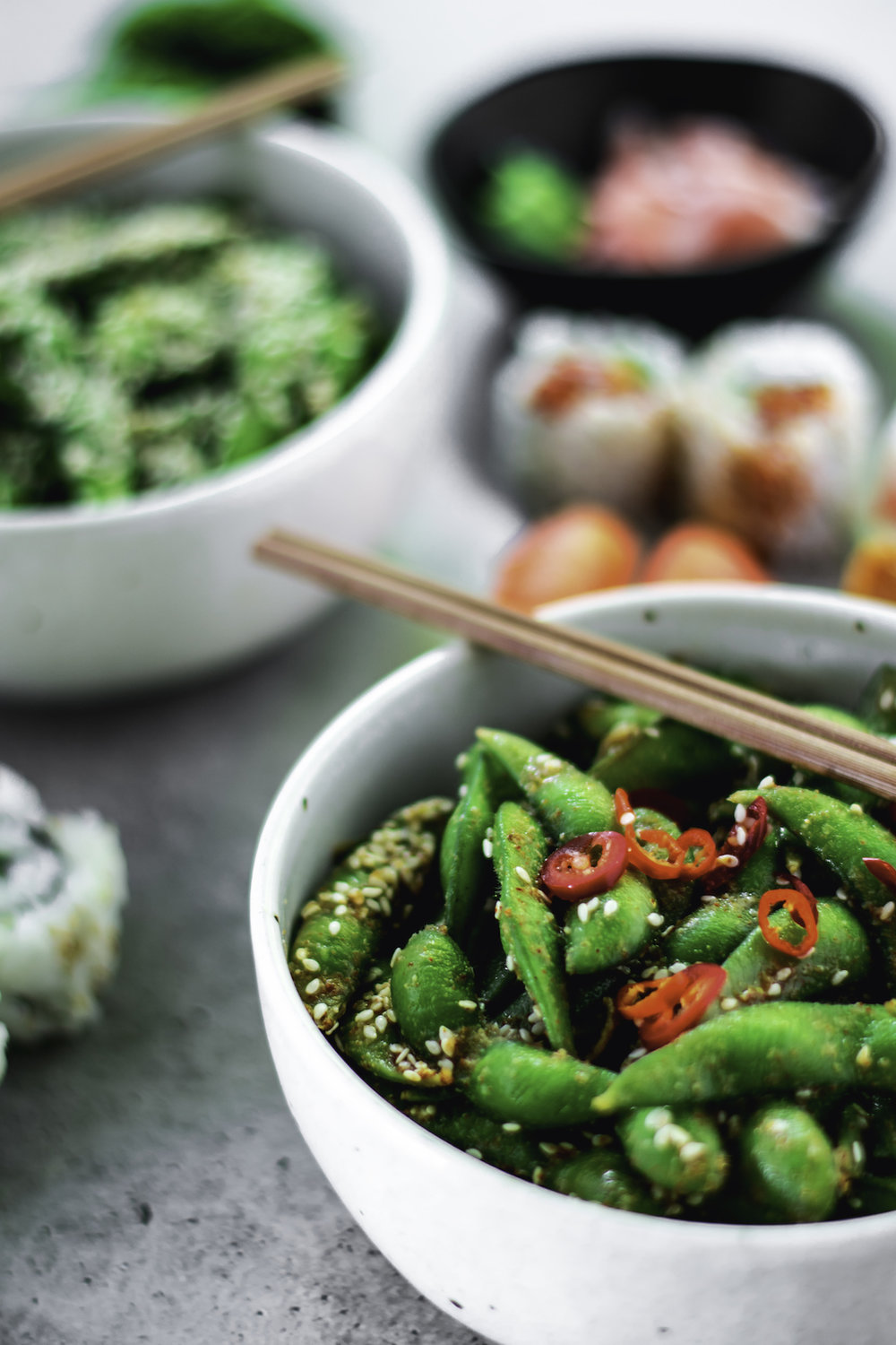 Sweet and Spicy Edamame // Meru Miso. Photography and styling by    The Botanical Table   .
