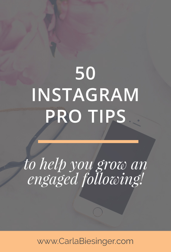 50 Instagram tips from your favourite bloggers. Grow your Instagram following #Instagramtips #blogging
