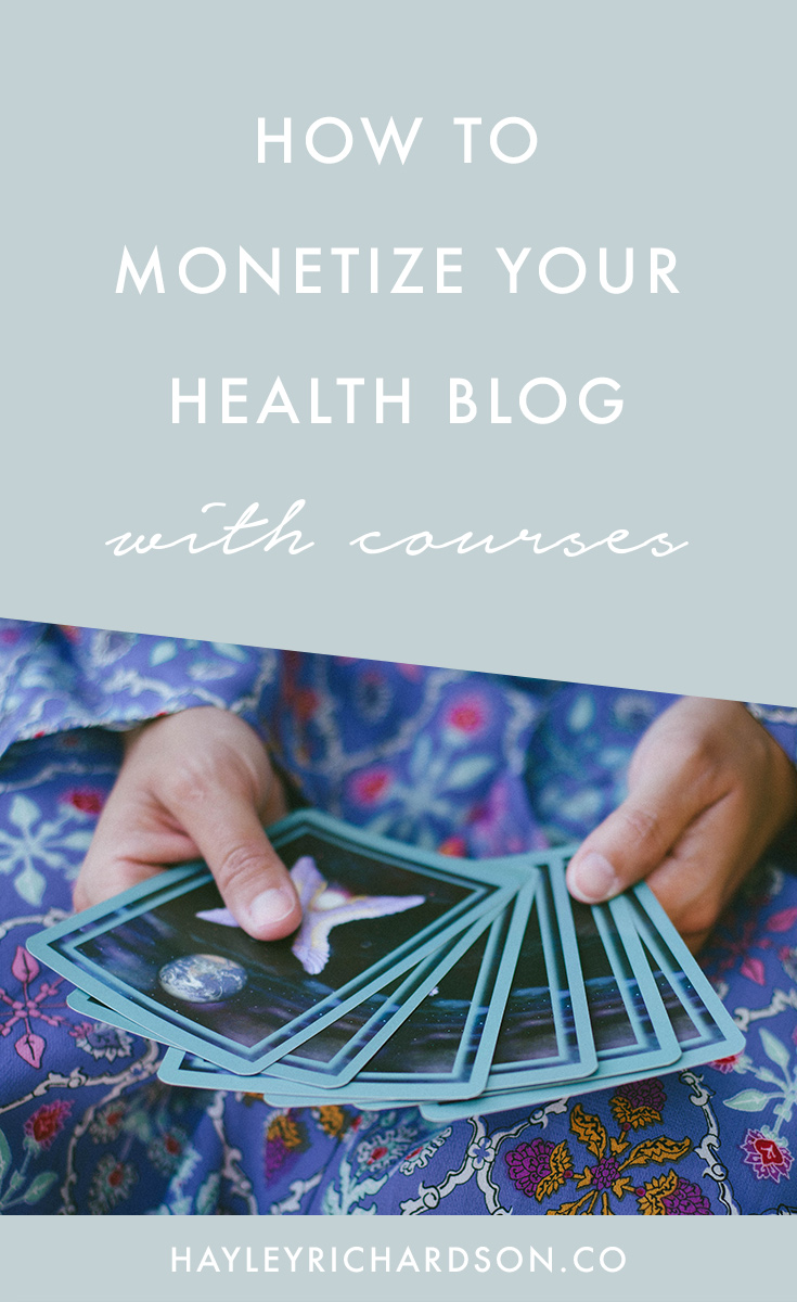 Wondering how to monetize a blog with courses? Check out this post which walks you through everything you need to do in order to make money as a health blogger with eCourses. Click through for more.