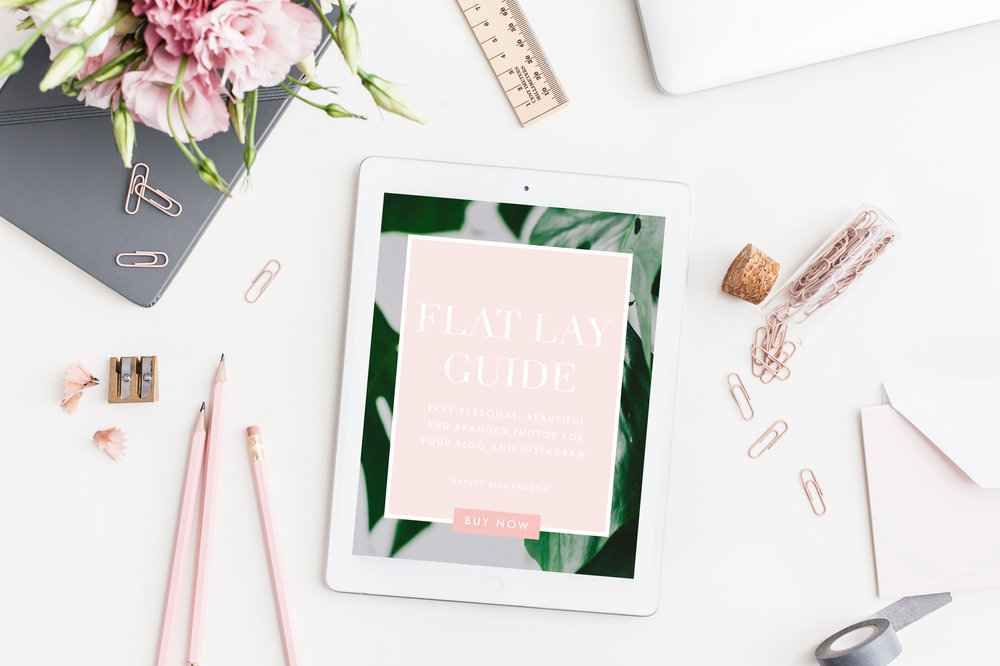 Flat lay photography eBook Hayley Richardson