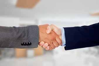 Businessmen closing a deal