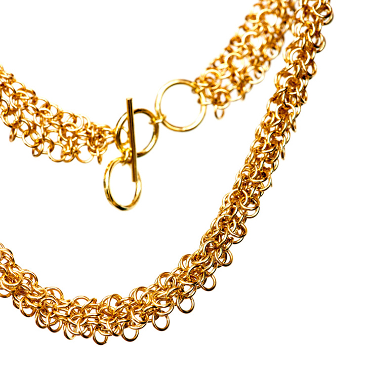 18ct Gold Large link Necklace