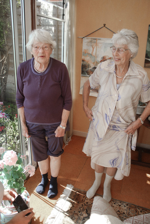 A woven plane – sustainable socks – 'grandma socks'