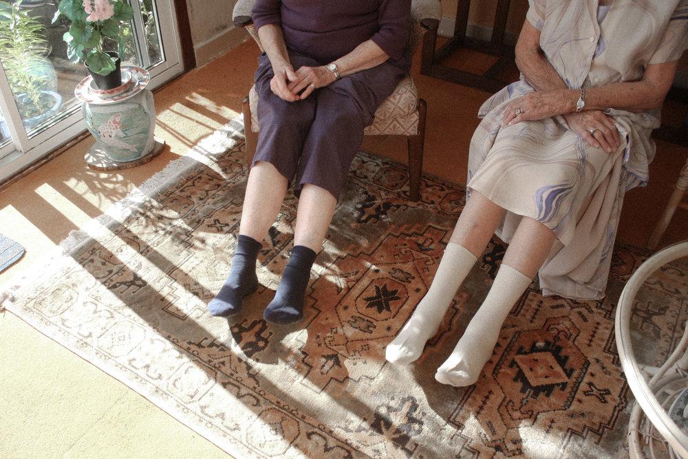 A woven plane – comfortable socks for women – 'grandma socks'