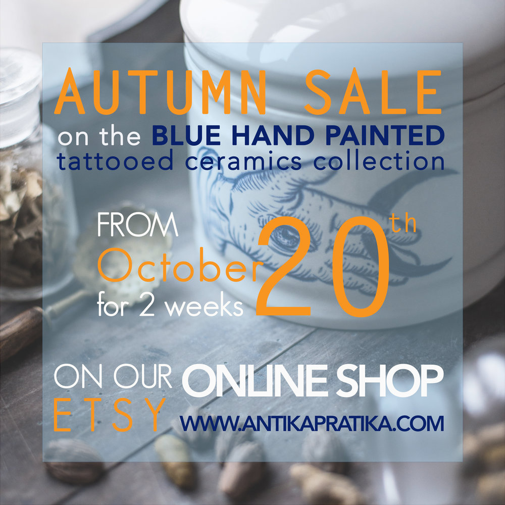 Antikapratika Tattooed ceramics AUTUMN SALE