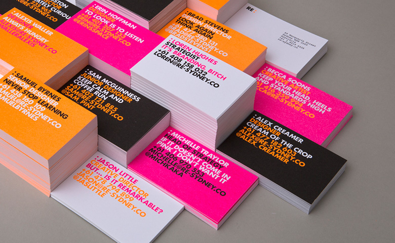 Re Business Card Branding