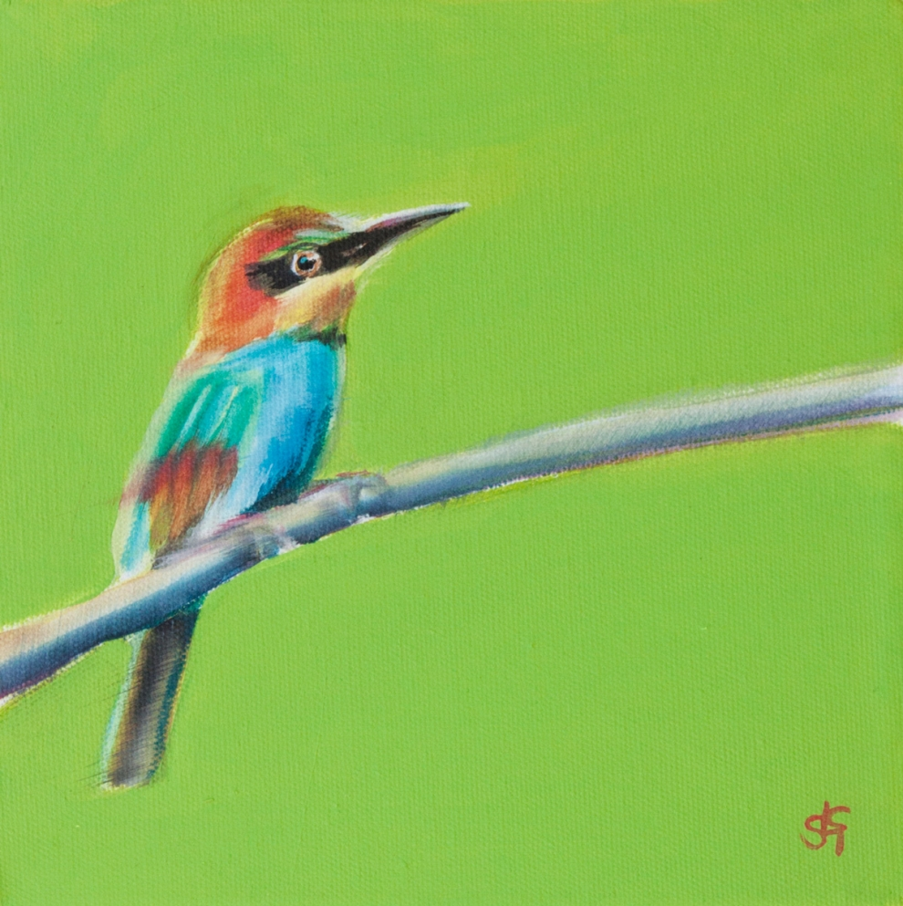 Bee Eater Lime (Cassie) 20x20cm