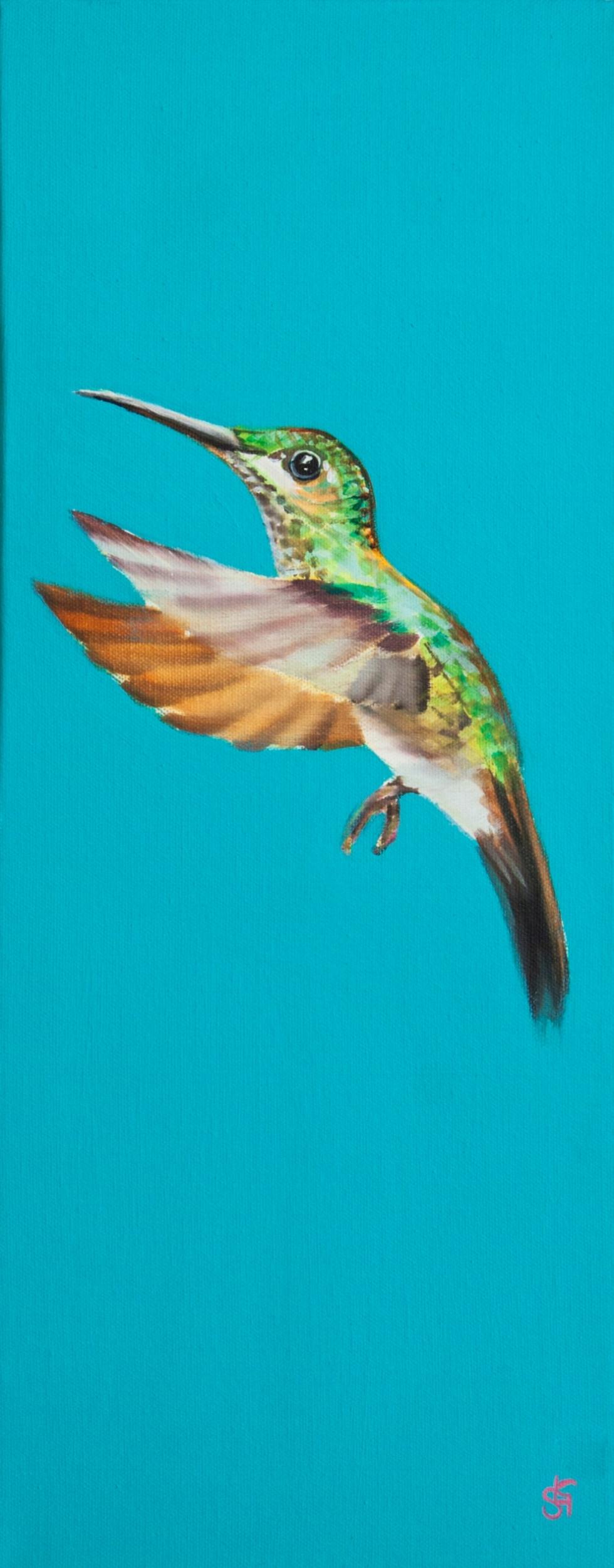 Hummingbird Teal (Cassie) 20x60cm
