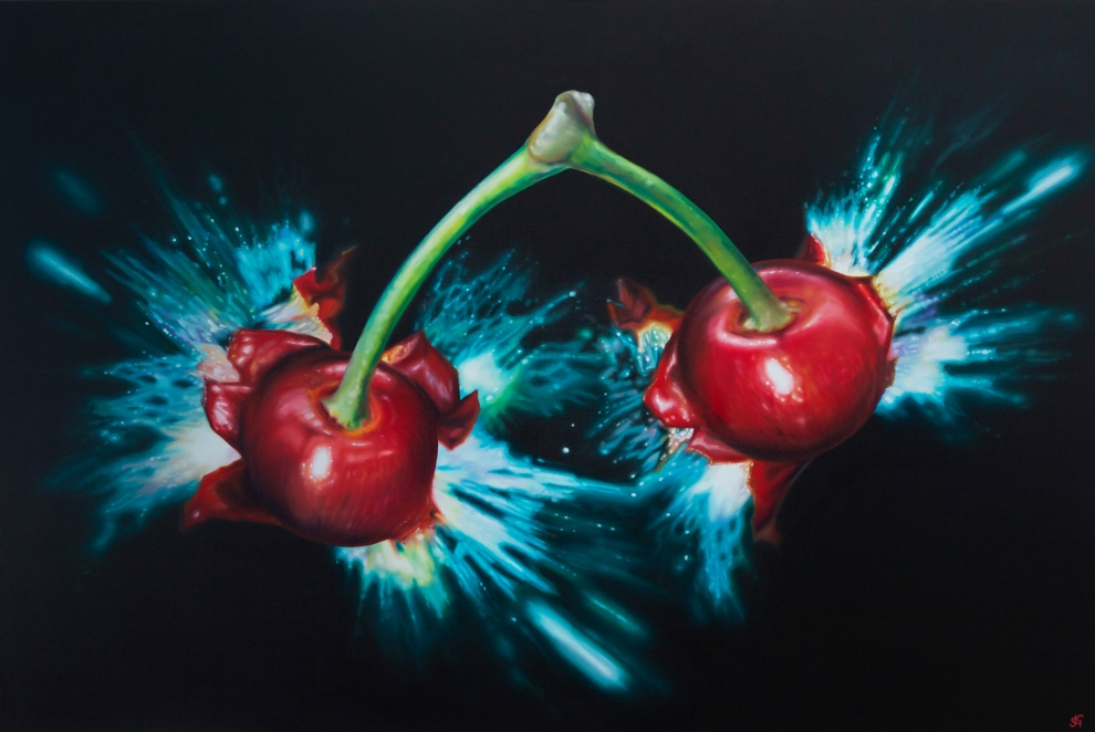 'Cherry Bomb', 80x120cm oil on canvas