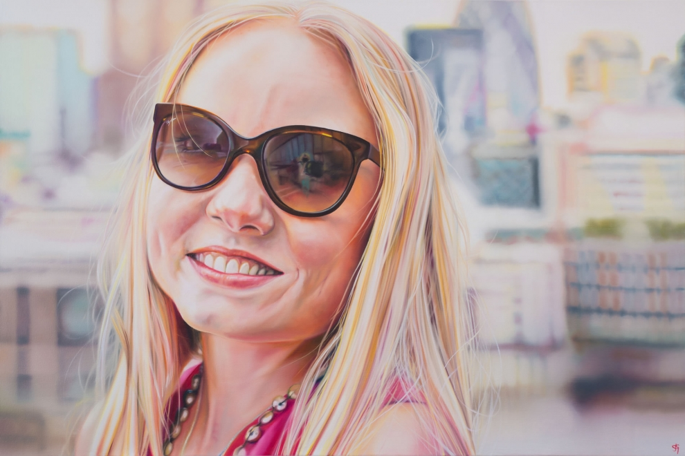 'Kerry Ellis' oil on canvas - 80x120cm