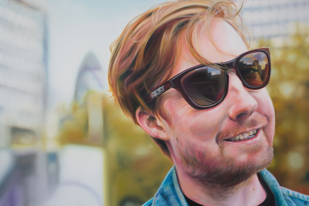 'Ricky Wilson' oil on canvas - 80x120cm