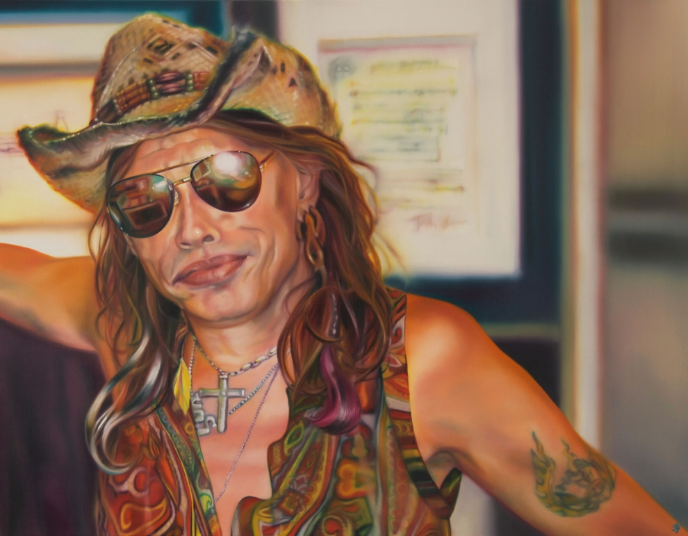 'Rockstar Cowboy' oil on canvas - 85x110cm