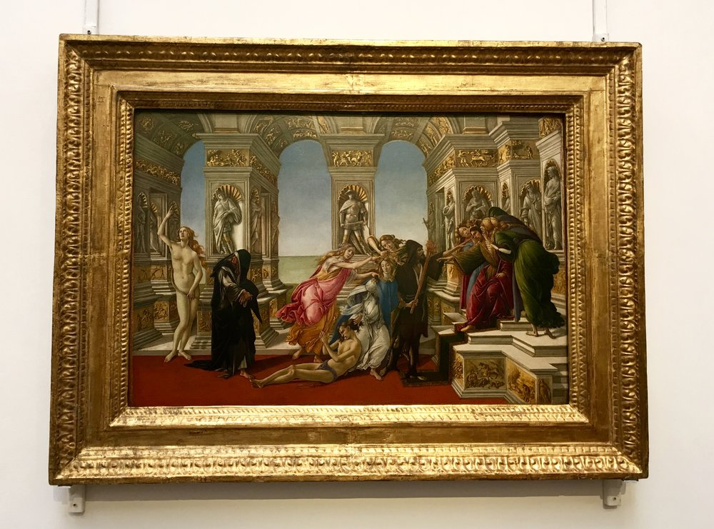 BOTTICELLI - LA CALUMNY OF APELLES