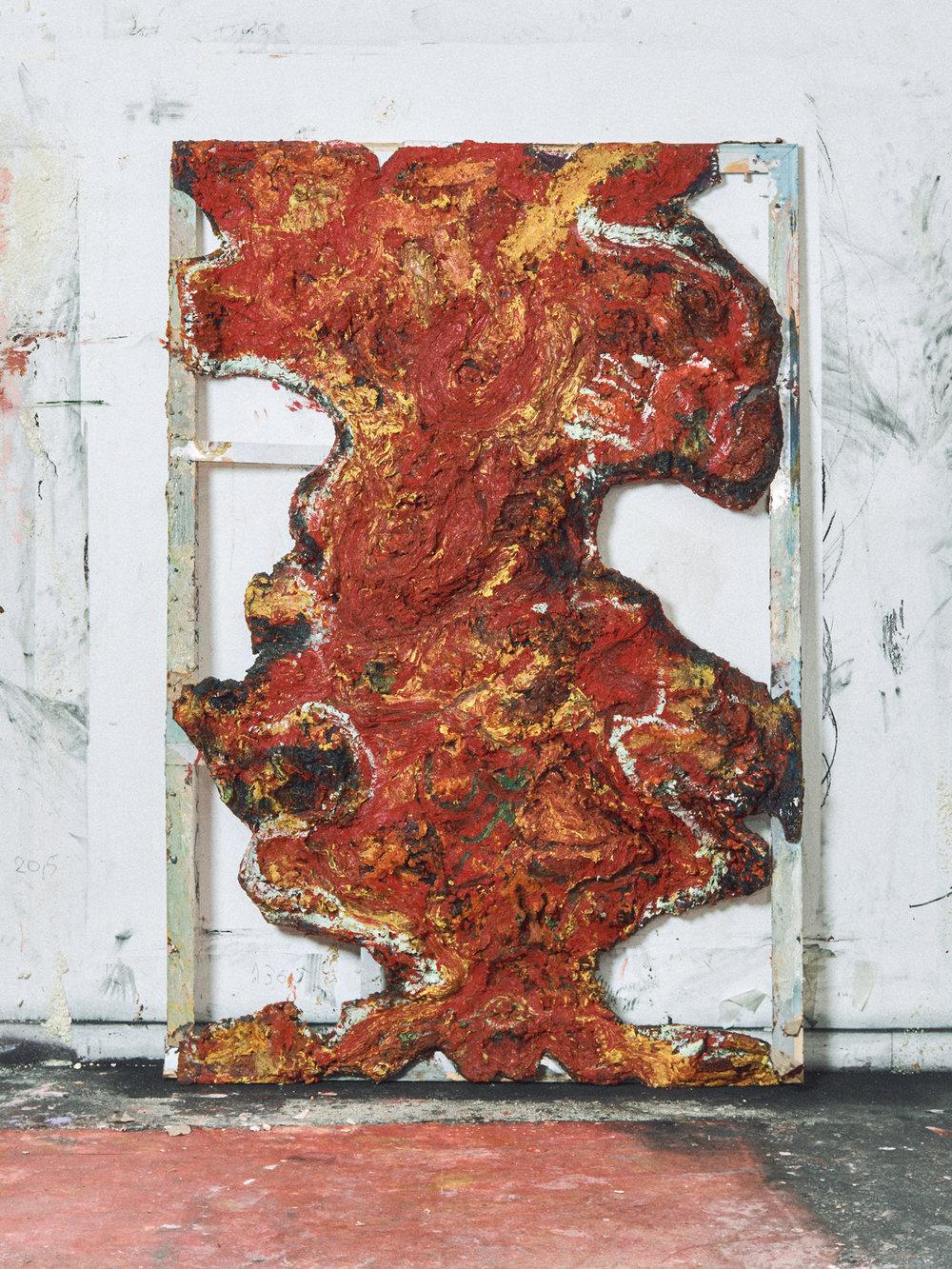 Double Demon, 2017/18 Oil on on canvas 215 x 140 x 6 cm