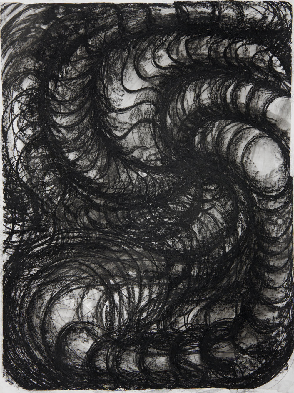Vortex Study, 2018 135x 100 cm charcoal on paper