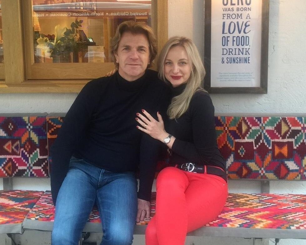 Ceru's Barry and Patricia Hilton sit inside Ceru restaurant posing for the camera