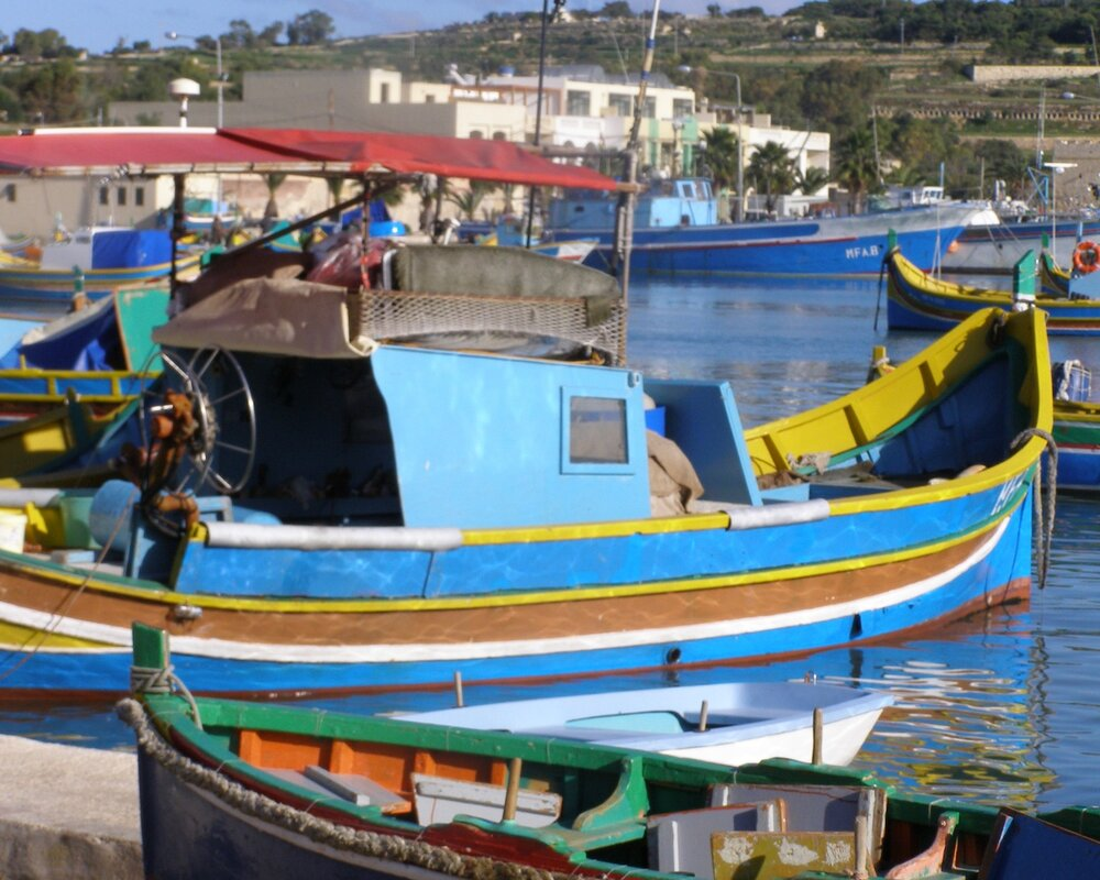 Colourful boats in Turkey
