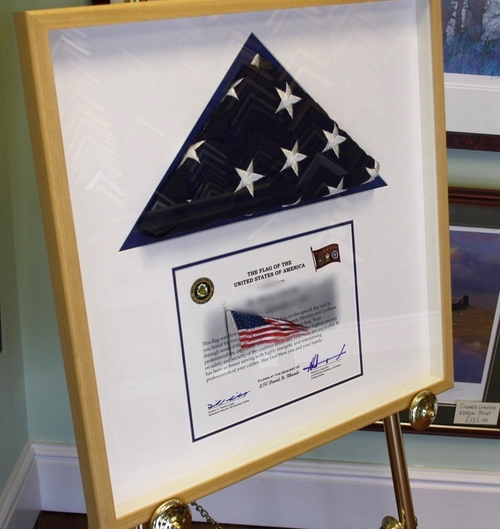 Framed Flags — Andover Picture Framing
