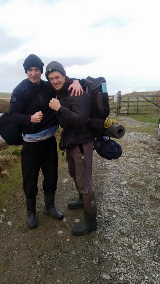 Me & Paul on route to one of our mountain bothy hideouts...