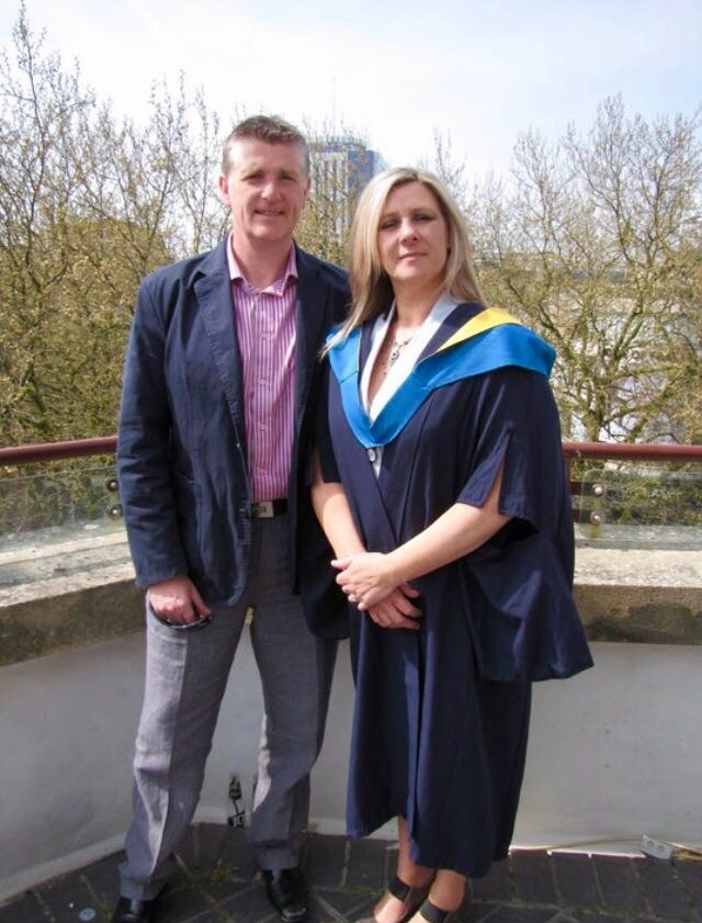 Mum & dad at mum's graduation