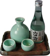 Figure 2:  Japanese Sake, white rice wine.