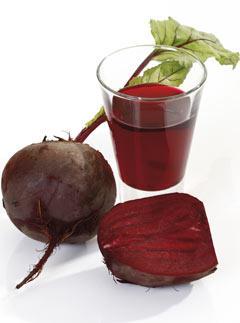 Pressed beet juice