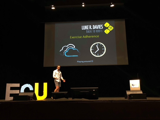 Presenting B2R concepts for exercise adherence in Ted talk format at the European Chiropractic Union (ECU) in Budapest, May 2018. Watch it  HERE .