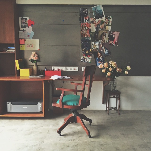 Our Work Desk at the first studio.