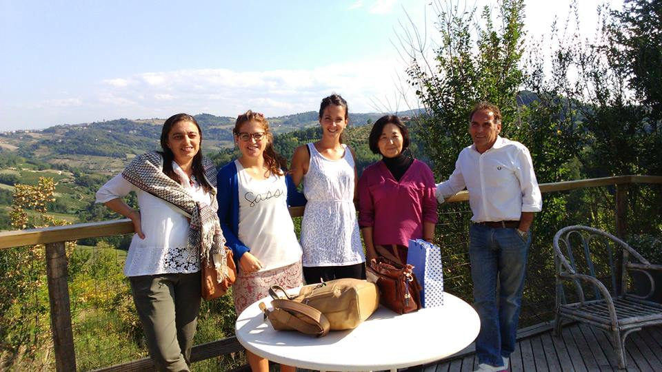At the restaurant with architects of CSPE studio (from left: Camilla, Giulia, Francesca, Haruko and Marco) September 2015