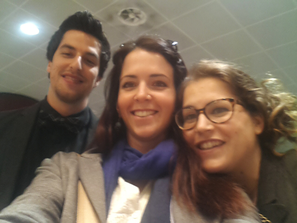 Meeting Stephano, Francesca and Giulia @Blogna Airport April 2014