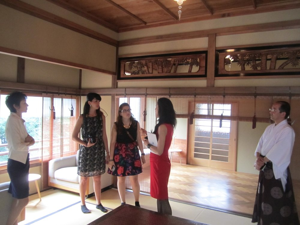 Visiting Kanda House (from left: Kayoko, Haruko, Giulia and Francesca) June 2015