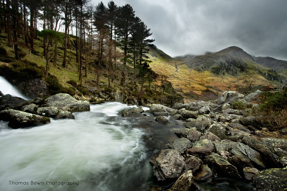 View down the Ogwen Valley - Thomas Bown Photography