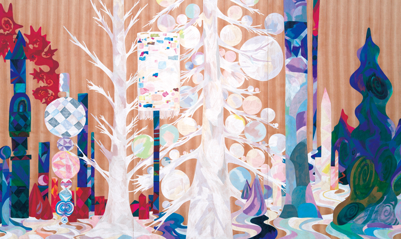 White Forest,   2014  3m x 1.6m  Colour pencils on wood