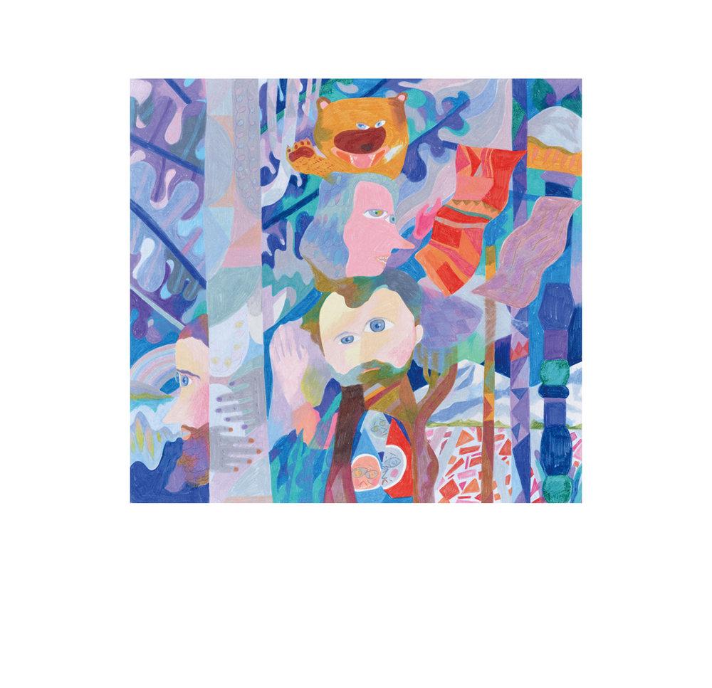 Re-Kaido Nigata,  2018  48cm x 80cm  Colour pencils on paper