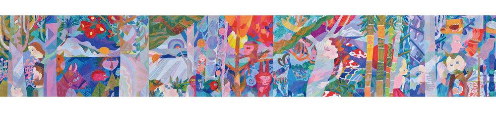 Re-Kaido Nigata,  2018  Colour pencils on paper