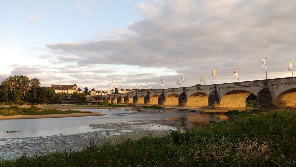 Looking Across the Loire River Toward the City of Tours