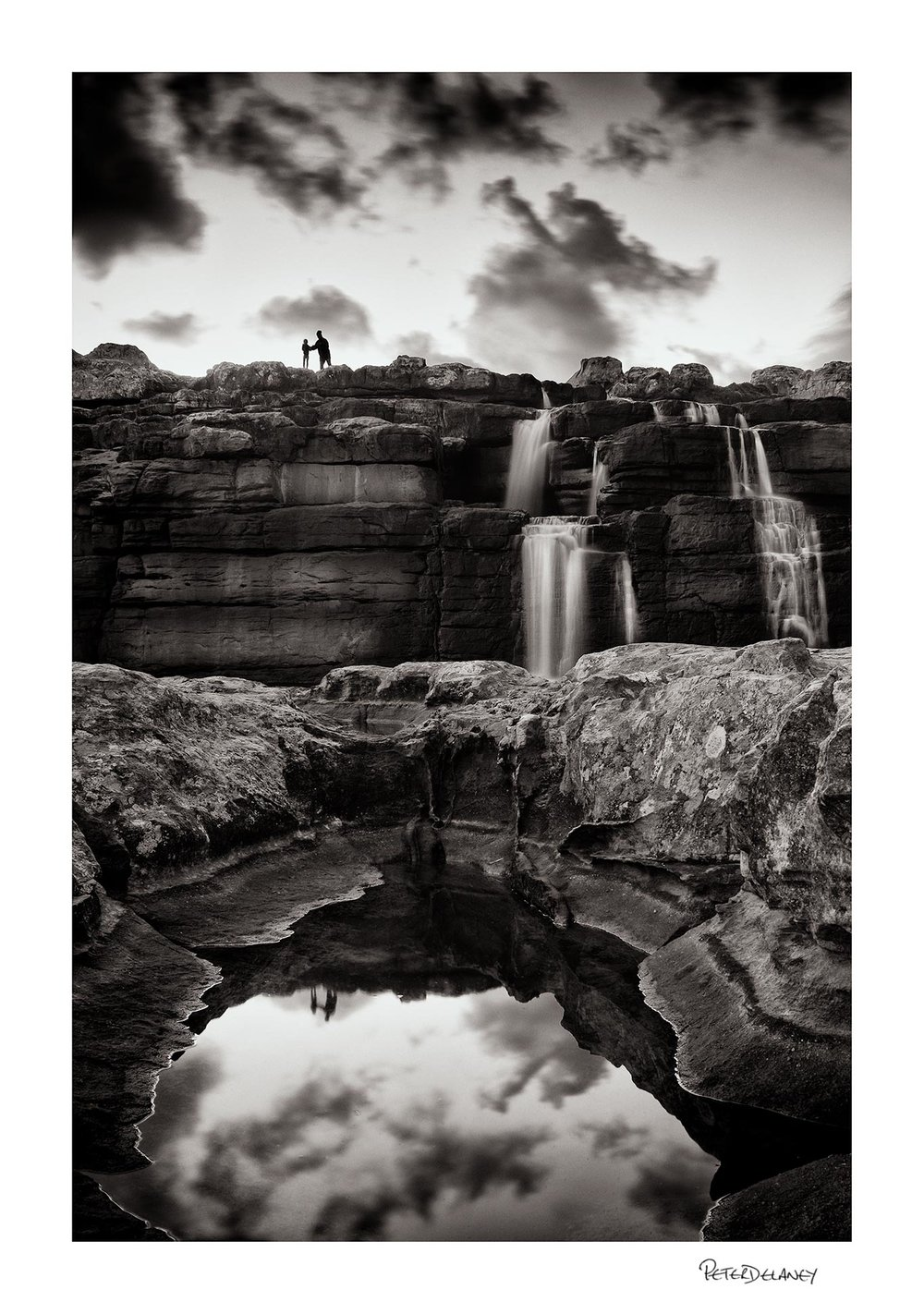 Mother and Child Waterfall Fine Art Print                             FujiFilm XT-2, 18-55mm plus Lee Filter Big Stopper