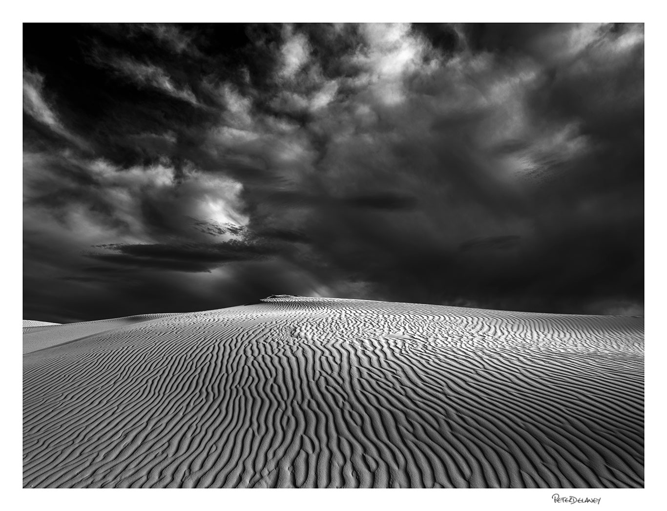 Patterns storm clouds de hoop landscape print