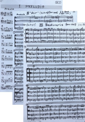 J S Bach: 3 works arranged for 4 bassoons