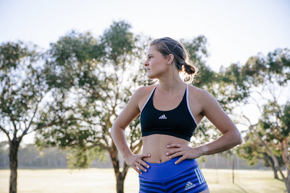 Nina is an  adidas  sponsored athlete, and wears adidas throughout.