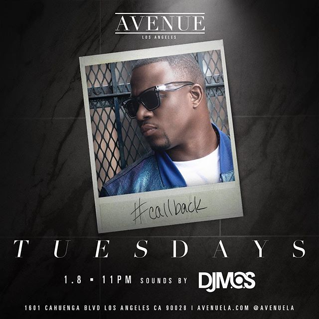 It's the #callback tonight at @avenuela! Drinks on me 🥃 Let's get it!!! #djmos
