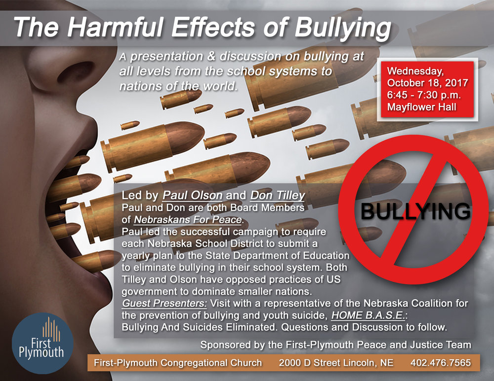 the harmful effects of bullying The effects of bullying among school-aged youth relationship bullying most readily fits within this set of harmful effects olwues (1993) found bullying victims.