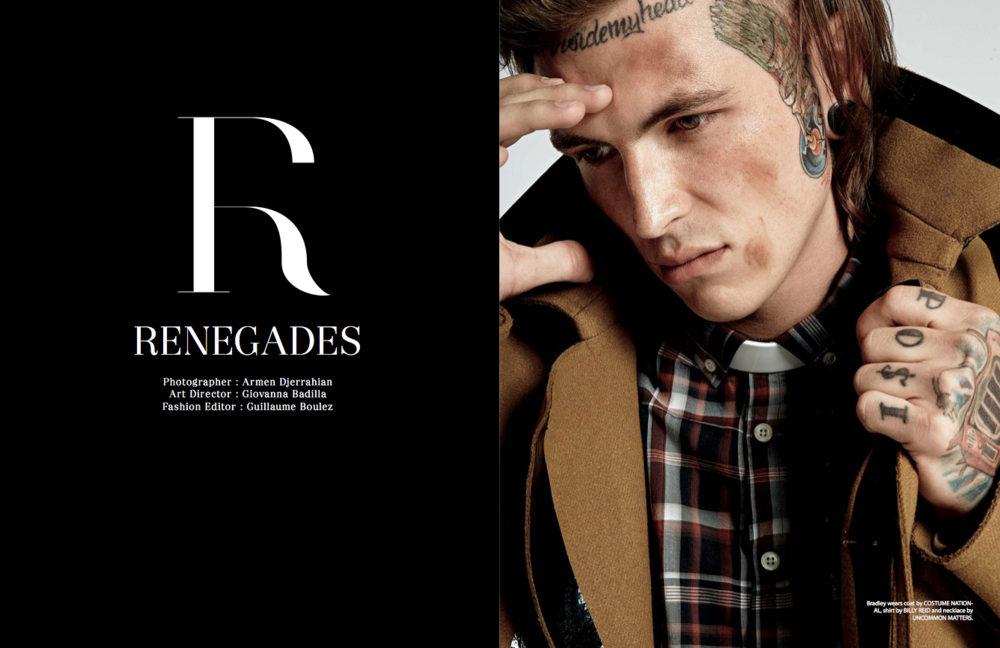 Art Direction of The Renegades shoot for The WILD Magazine.
