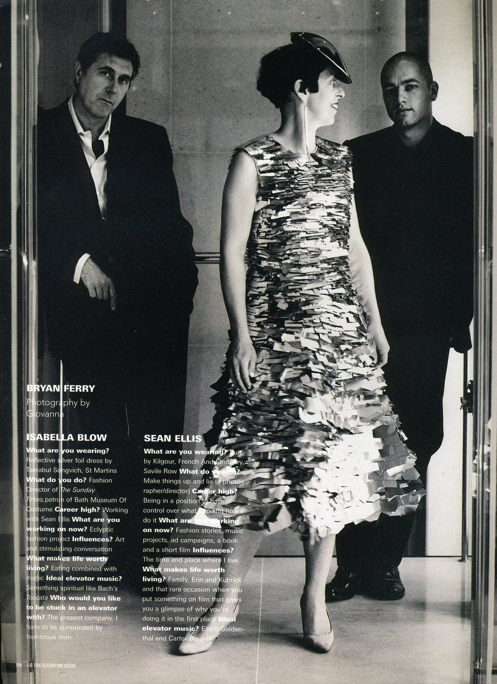 Bryan Ferry, Isabella Blow & Sean Ellis for iD Magazine.