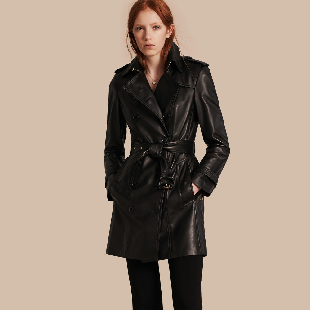 Burberry Leather Trench