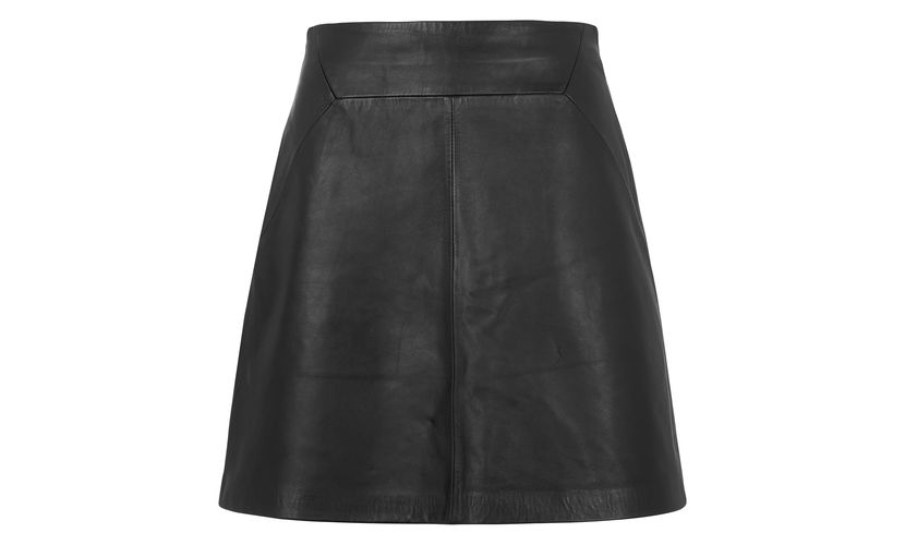 Whistles A Line Leather Skirt