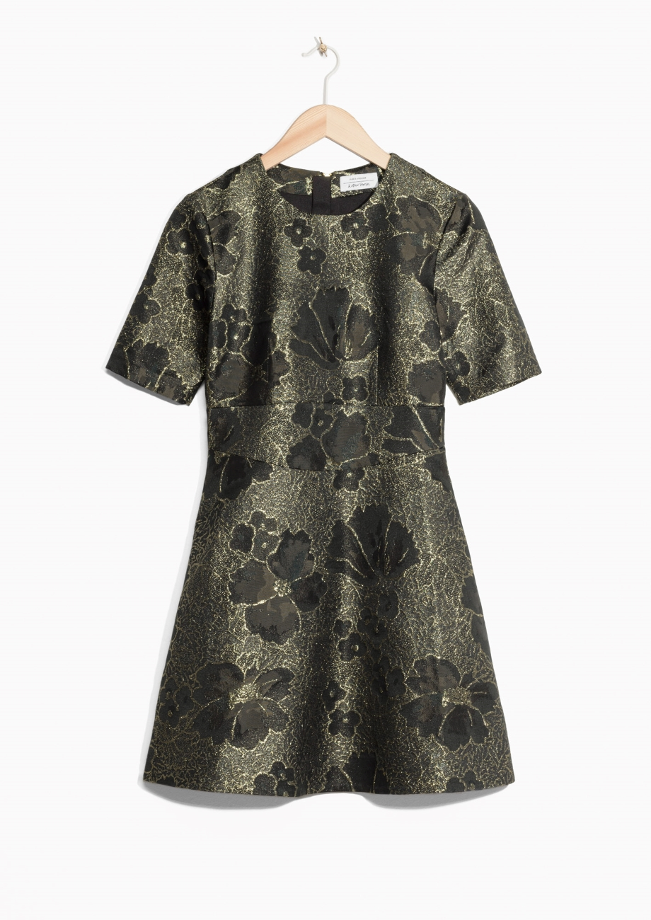& Other Stories Jacquard Dress